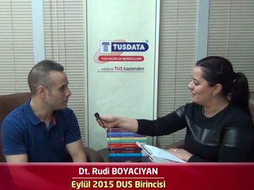 2015 DUS Birincisi Dt. Rudi BOYACIYAN ile DUS'a Hazırlık Süreci