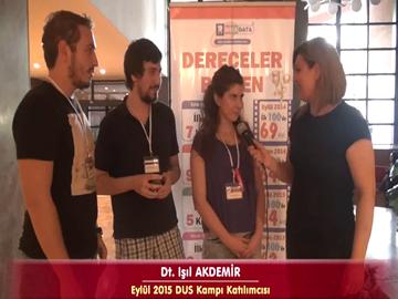 Dt. Işıl, Dt. Ergin ve Dt. Tolgahan - Eylül 2015 DUS Kampı Röportajları