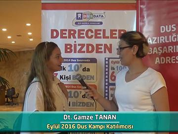Dt. Gamze TANAN - 2016 DUS Kampı Röportajları