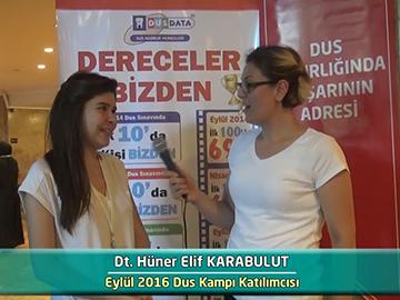 Dt. Hüner Elif KARABULUT - 2016 DUS Kampı Röportajları