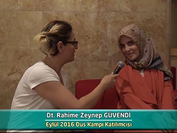 Dt. Rahime Zeynep GÜVENDİ - 2016 DUS Kampı Röportajları