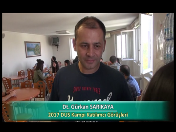 Dt. Gürkan SARIKAYA - 2017 DUS Kampı Röportajları