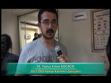 Dt. Yunus Emre KOCACIK - 2017 DUS Kampı Röportajları