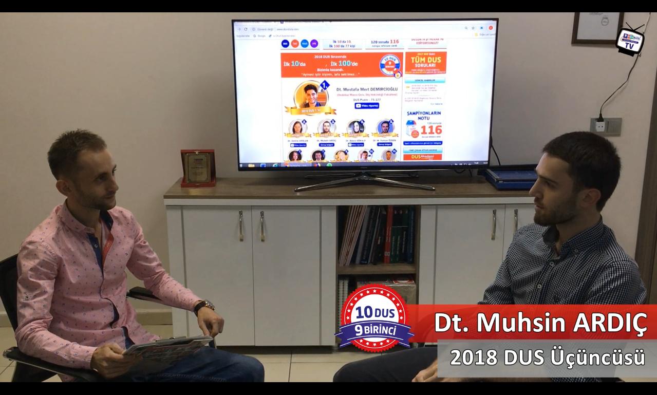 2018 DUS Üçüncüsü <br> Dt. Muhsin ARDIÇ ile DUS'a Hazırlık Süreci