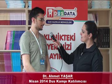 Dt. Ahmet YAŞAR – Nisan 2014 DUS Kampı Röportajı