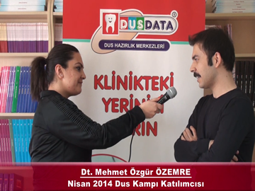 Dt. Mehmet Özgür ÖZEMRE – Nisan 2014 DUS Kampı Röportajı