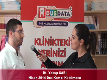 Dt. Yusuf SARI – Nisan 2014 DUS Kampı Röportajı